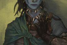 D&D Ysa / aesthetic board for Ysa, the goliath druid