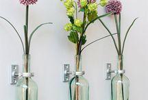 Flaschen als Vase