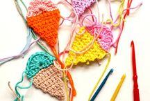 Crochet garlands and wreaths