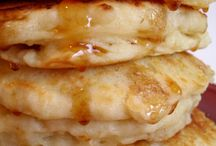 Ruth's Fluffy Pancakes... / Husband remark: Granny's pancakes were thick and high, light as a feather. A wonderful food memory, as was the homemade pancake syrup that mom made. / by Ar Families