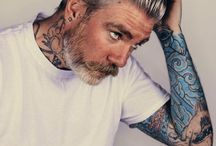 Mens suits and Tattoos'! / Tattoos and men suits