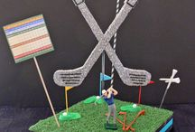 """DIY Golf Theme Centerpieces / Golf centerpiece ideas that are """"par"""" for the course!!!! Golf theme centerpieces that bring out the golfer in us all."""