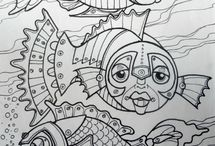 Steampunk colouring