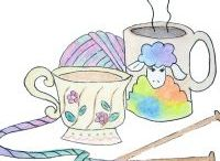Sip n Stitch / Inspiration for our Sip n Stitch Club  http://www.theuniquesheep.com/product-category/clubs/
