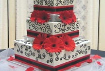 red black and white wedding ideas