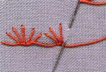Bordado / Bordados e apliques e tipos de pontos para bordado.