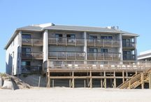 The Yachtsman / The Yachtsman Community comes equipped with everything a guest could possibly need for the ultimate stay on the beautiful Outer Banks. Located in South Nags Head at milepost 17, this condominium community comes equipped with a community pool that serves as an alternative to the beach which is just footsteps away. Next to the pool is an open lawn and grilling area ideal for family picnics.  / by Joe Lamb, Jr.