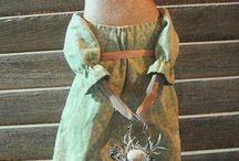 Текстильные куклы, игрушки