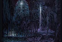 An Interview with Mark Cooper / Mark Cooper creates psychedelic landscapes and gruesome looking figures with his detailed digital art. Cooper's intensely colored works seem to form an alien and darkly organic atmosphere. Many of his works are for Death and Extreme Metal groups with recent pieces for Serpentspire, Master and Pessimist.