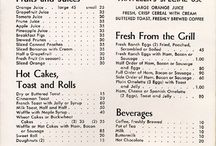 Vintage menukaart