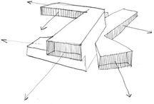 architetural concept sketches