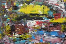 Africa - abstract landscapes / Oil paintings thematically relating to African wonders of nature.  Art for sale at www.ogieglokingaart.com