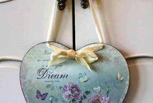 Vintage Heart hangers