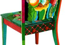 maľované stoličky