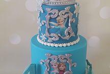 Frozen taart / Taarten met het thema Frozen #Frozentaart, #frozencupcake, #taartspijkenisse, #taartbestellen