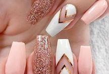 uñas con gliter