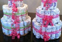 DIY DIAPER CAKE / Baby Shower