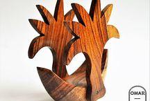 Ručne vyrobené drevené podšálky od Omar Handmade