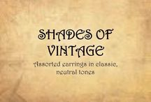 SHADES OF VINTAGE / Unique, handmade earrings in shades of VINTAGE