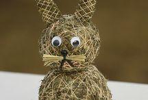 velikonoční zajíček a kuřátka
