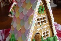 ~Gingerbread~Candy~ / Childhood memories of baking, building, and decorating gingerbread houses with the most colorful candy possible!  / by Dianne Oehman