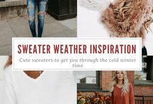 Inspiration | Sweater Weather / Cute sweaters to get you through the cold winter time  #fashion #outfits #inspiration #sweaters #sweaterweather