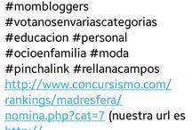 PREMIOS AL MEJOR BLOG 2015 / Hola a todos, nos gustaria que por favor nos ayudarais en estos premios ya que estamos muy ilusionadas, solo os llevara un minuto, es rellanar los campos DEL LINK QUE PONE ABAJO, PODEIS VOTARNOS EN VARIAS CATEGORIAS, *ENTRE ELLAS LA DEL LINK , http://www.concursismo.com/rankings/madresfera/nomina.php?cat=7 *EDUCACION * MODA *OCIO EN FAMILIA  y poner nuestra url que es (http://mamimehagomayor.blogs.elle.es/)  haber si tenemos suerte!! mil gracias!!!