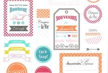 Marques-pages et étiquette