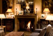 english country cottage interiors / Interiors that 'ooze' with the smell of beeswax furniture polish, where real fires crackle & spit & decor is cosy yet sophisticated at the same time.