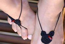Zapatilla de Crochet Para los pies en verano