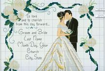 Cross Stitch - Wedding
