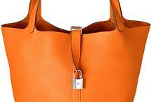Orange / Tasker, sko,