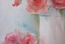 wasserfarben/ blüten