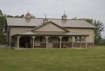 Pole barns w living quarters