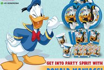 Donald Mania Theme / All about Donald Theme Party Supplies!!