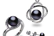 + 925er Sterling Silber Set+Süßwasser Perle+Cristal Zirkonia+Neu +