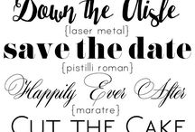 Wedding friendly fonts