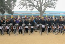 Distributed bicycles to students of government schools