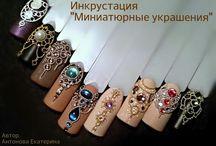"""Дизайн ногтей """"жидкие камни"""""""