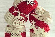 vianočné háčkované ozdoby