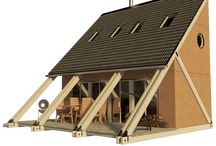 Esther / Small Lake House Plan. DIY. Triangle house. Porch