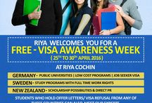 Free - Visa Awareness Week - Riya Education / Free - Visa Awareness Week at Riya Education in Bangalore, Cochin, Chennai, Coimbatore, Delhi, Kollam, Kannur, Kottayam, Madurai, Mumbai, Trichur, Thiruvalla, Trivandrum, Vijayawada for Germany, New Zealand and Sweden. Students who hold offer letters / visa refusal from any of these countries can also meet our experts. First 10 students will get zero fee services. Make use of this opportunity.
