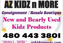 AZ KIDZ n MORE ~ Consignment Store / Resale for Kidz ~ some pics of the store and Ads / * We are a consignment store for YOUR KIDZ * New items daily. Bring in your gently used items and we sell them and you get in store credit or a check. It is that easy. You get to unload all of the things that take up space in your life . . .and make $$$ too! We must keep our inventory fresh, clean, fashionable and as close to new as possible.This way our customers are guaranteed a successful shopping experience each time they visit.