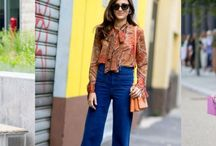 Pussy Bow Blouse & Flared Jeans: Fashionistas Love This Power Combo!