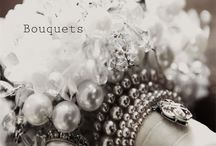 Vintage bouquets / Bridal fabric and vintage brooch bouquets