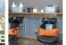 Rustic & Industrial Salon Look / Beauty Salons and Hair Salons that use Rustic Industrial Shabby Chic king of style.