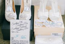 The Shoe Fits / White, blue, floral, crystals...every bride completes their fairy tale wedding with the perfect pair of shoes!