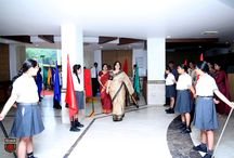 LEADERS OF TOMORROW CROWNED AT THE INVESTITURE CEREMONY / The Investiture Ceremony, 2016, witnessed the young Presidians being honoured with prestigious positions in the school's Student Council by the Hon'ble Chairperson, Mrs. Sudha Gupta and the Presidium family. She congratulated the students, teachers and the parents on the joyous occasion and extended warm wishes to the students for a bright year ahead.