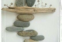 Sea Glass and Rock Wall Art