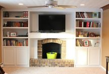 built in around fireplace / by Mark Whitney